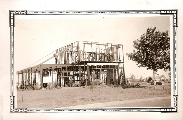 Stran-Steel House under construction