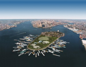 Concept for a floating World's Fair at Governors Island by Chad Oppenheim (Design Observer)